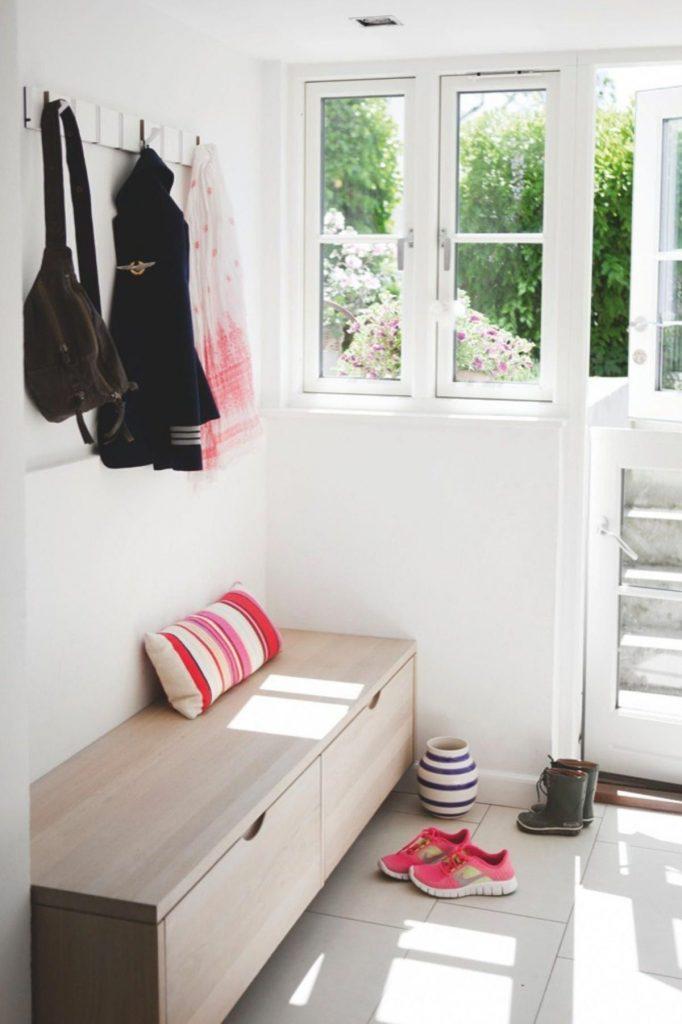 дизайн прихожей в скандинавском стиле в частном доме
