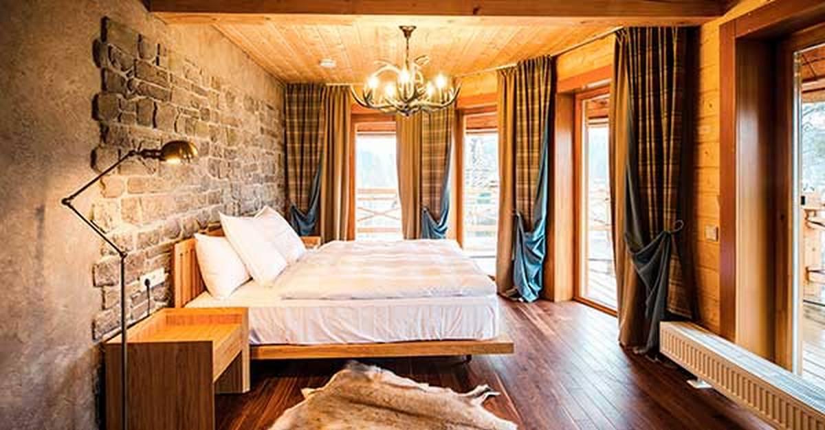 интерьер спальни в стиле шале основные черты