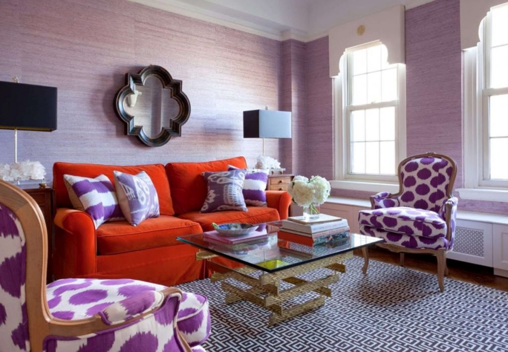 интерьер в ярких цветах любопытный дизайн гостиной