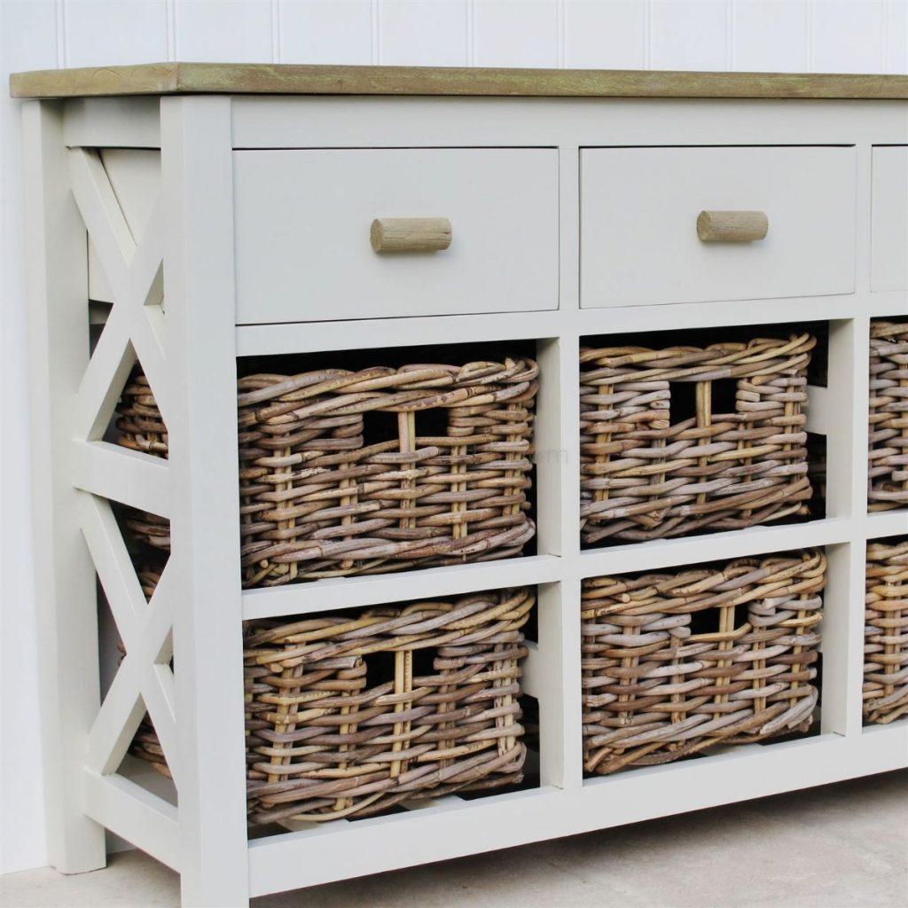 корзины вместо ящиков пример дизайна мебели в стиле прованс своими руками