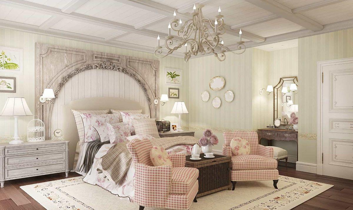 обилие текстиля в спальне в стиле прованс своими руками