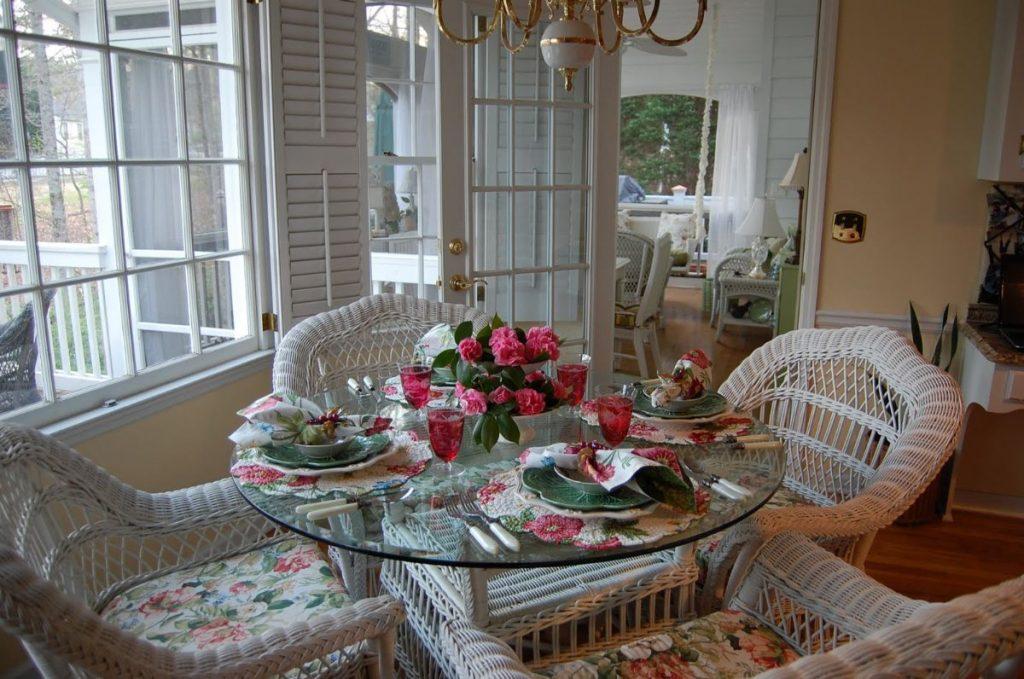 плетёная мебель в стиле прованс своими руками фото