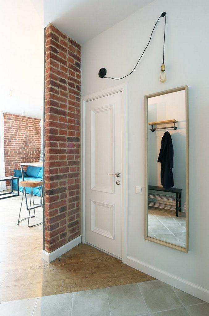 прихожая в стиле лофт в квартире минимализм