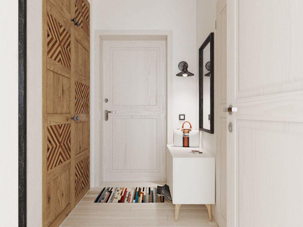 шкаф в прихожую в скандинавском стиле