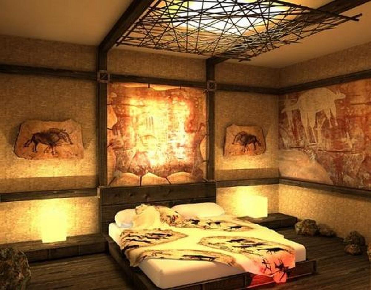 спальня дизайн в стиле шале