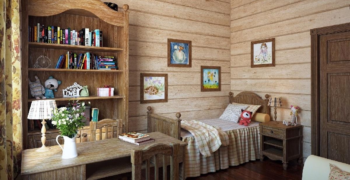 спальня на мансарде в стиле шале дизайн фото