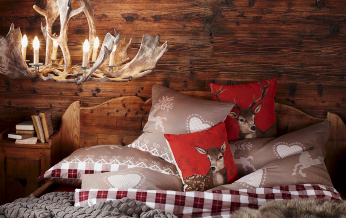 спальня на мансарде в стиле шале элементы декора