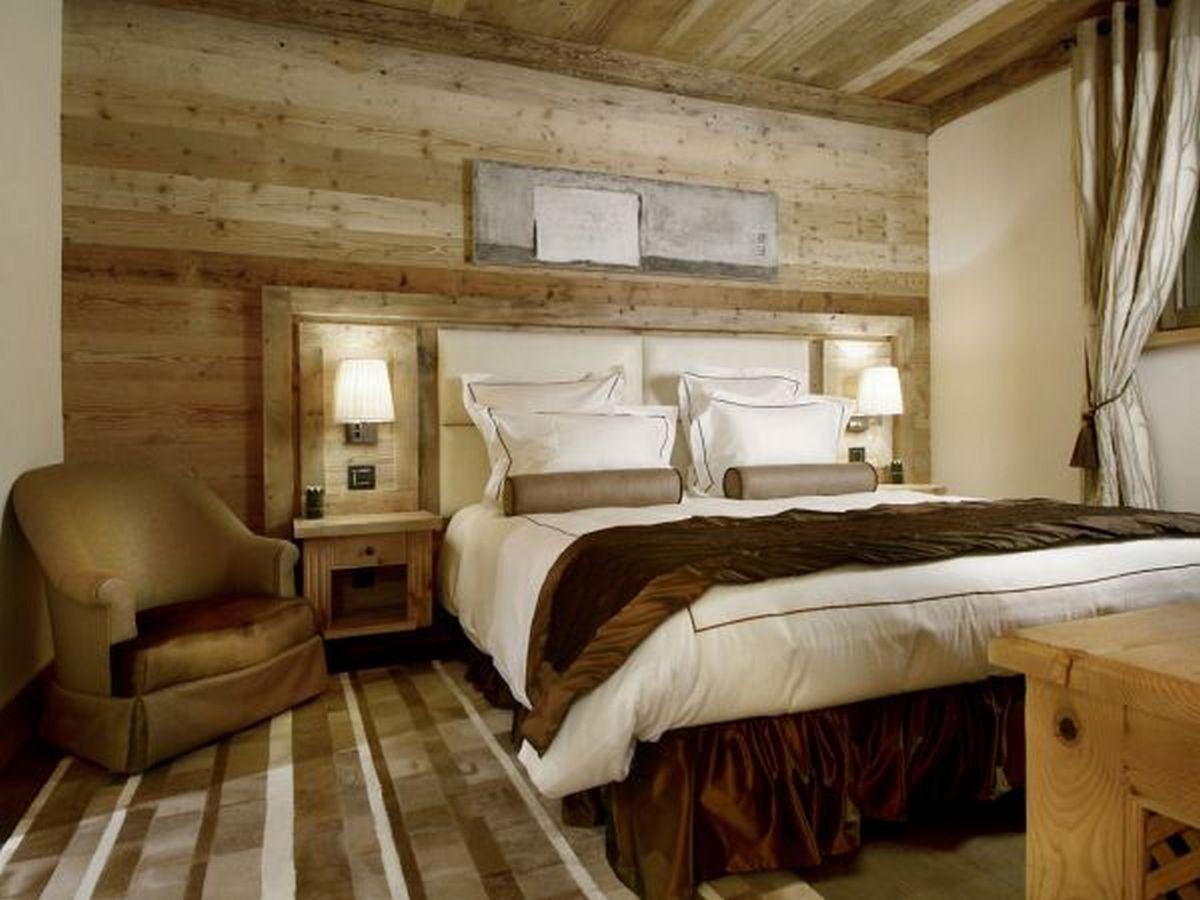 спальня в стиле шале в квартире фото