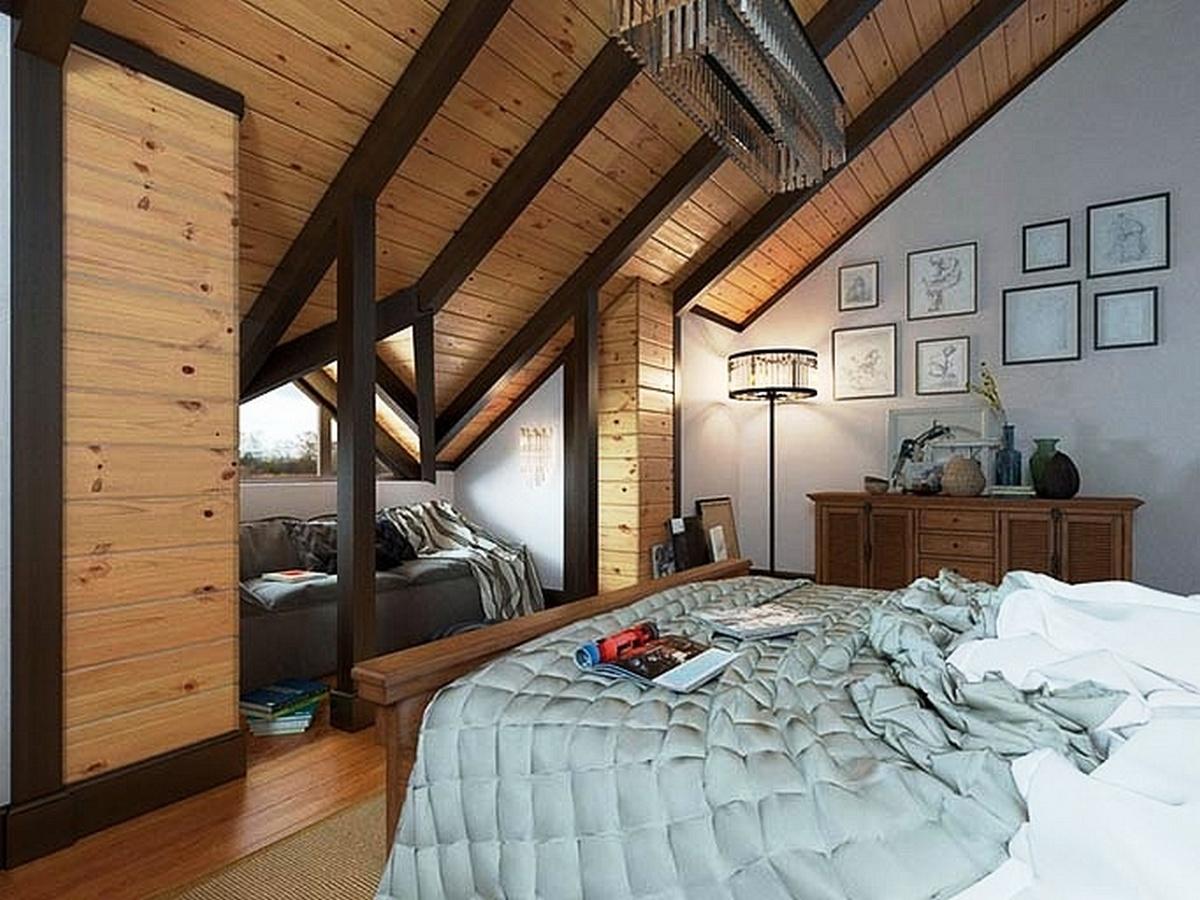 спальня в стиле шале в квартире