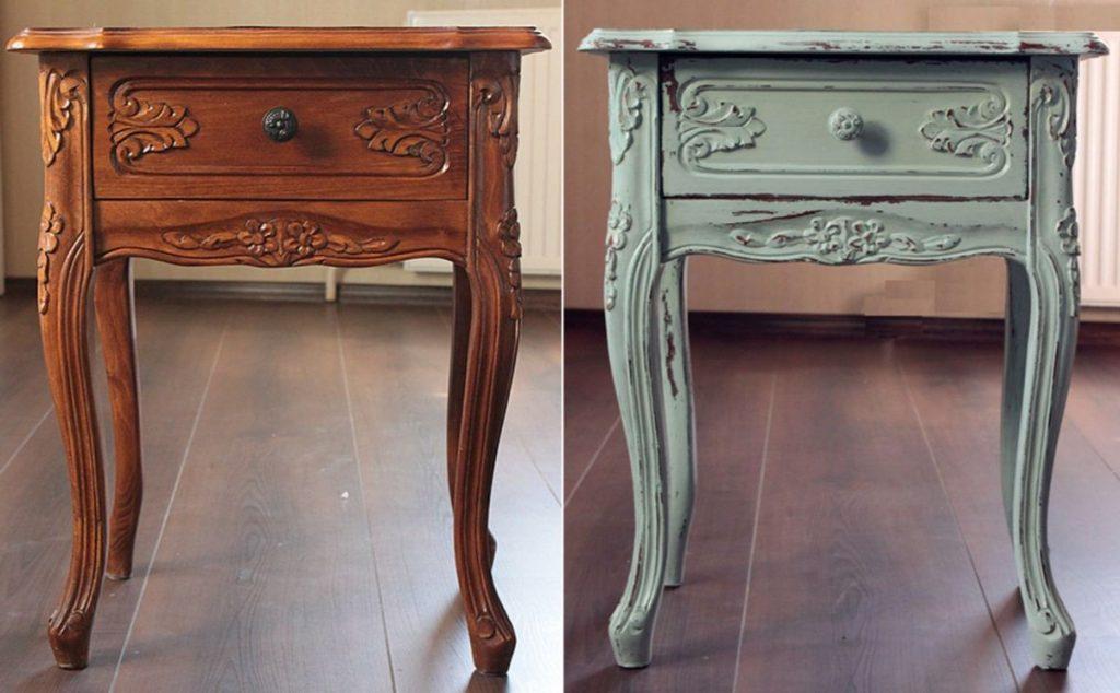 столик с винтажными ножками в стиле прованс своими руками