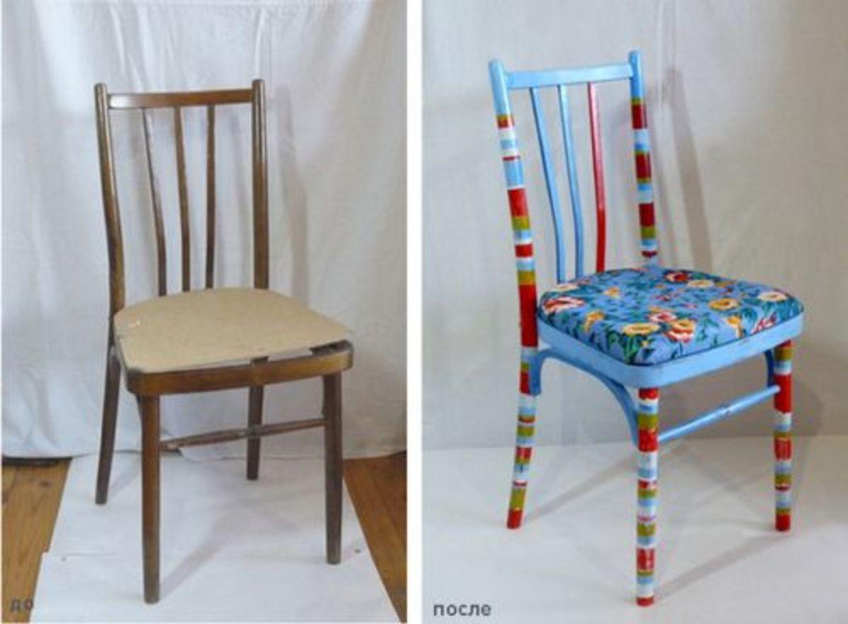 трансформация старого стула в стиле прованс своими руками