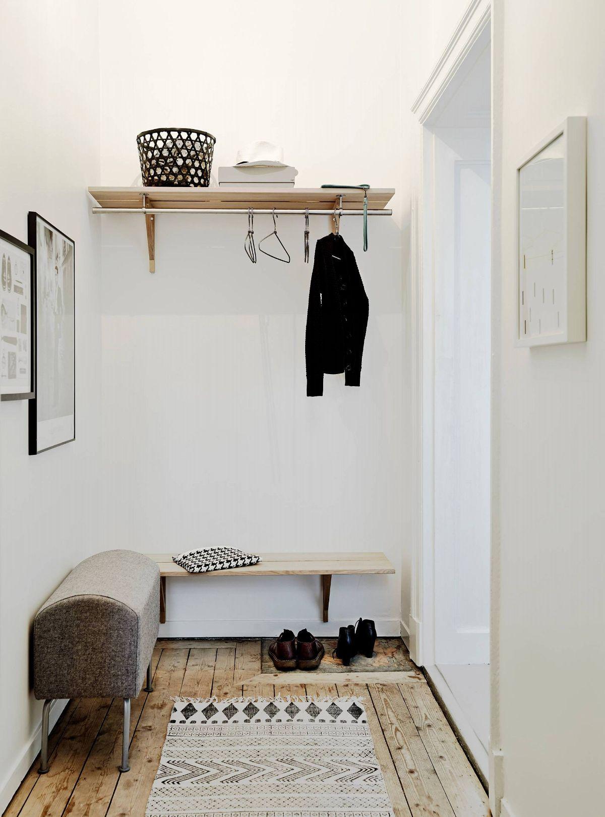 уютный дизайн прихожей в скандинавском стиле