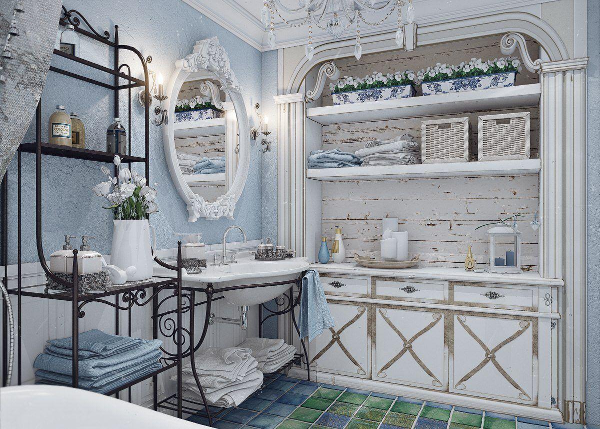 ванная в стиле прованс своими руками
