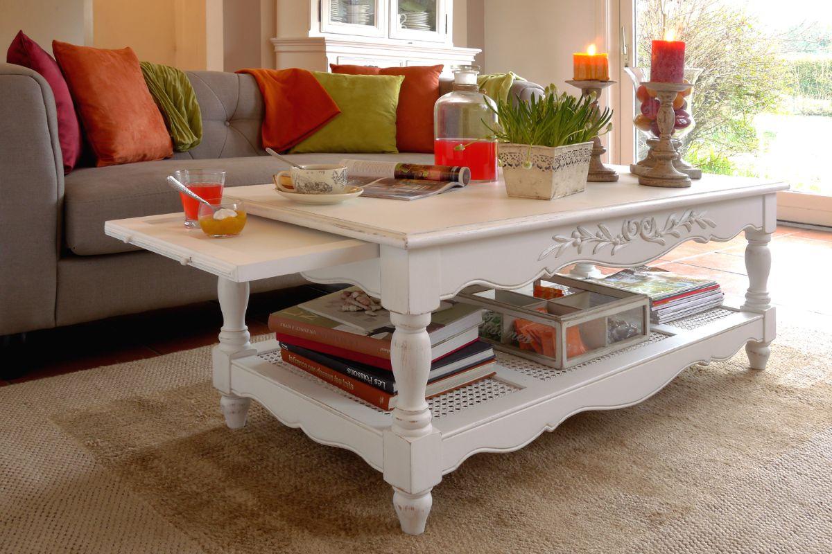 журнальный столик белого цвета в стиле прованс своими руками