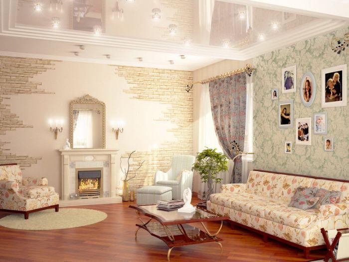 мягкая мебель для зала с камином