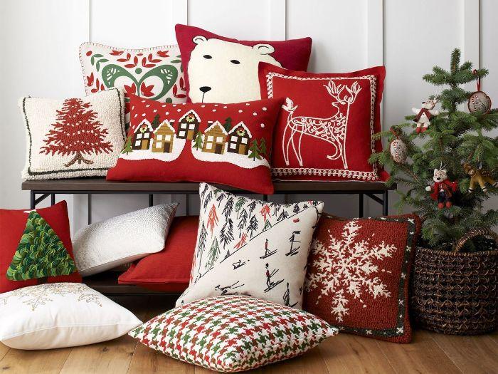 красивые новогодние подушки в детскую