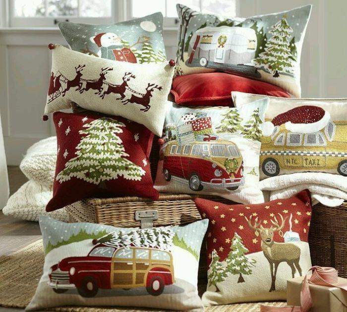 красивые новогодние подушки для детской