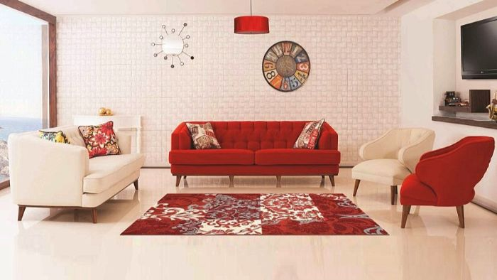 как комбинировать мягкую мебель для зала