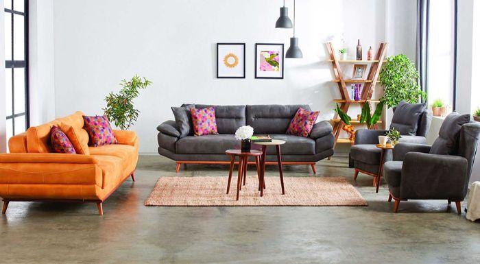 как комбинировать мягкую мебель в зале