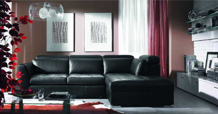 кожаная мебель в зал