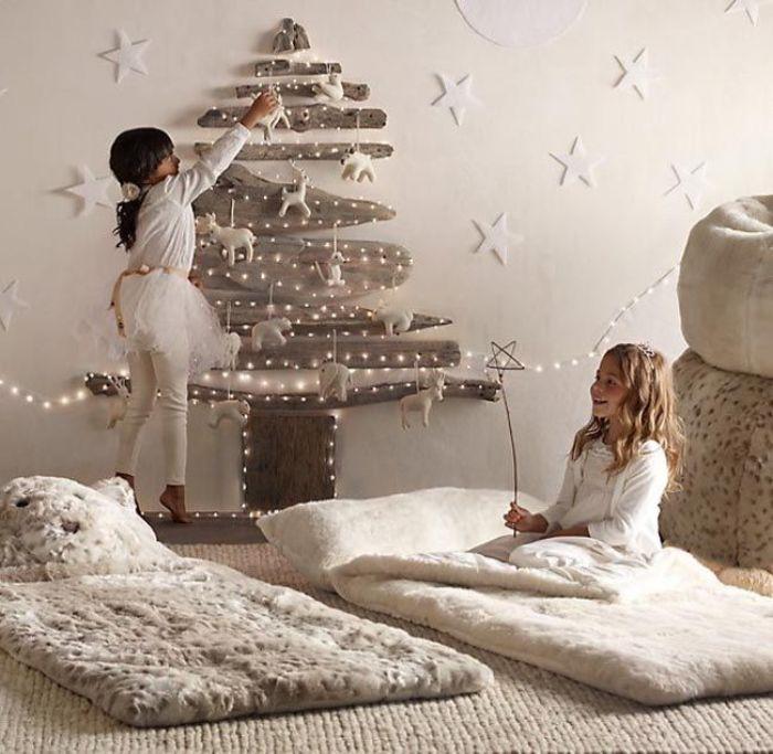 как украсить стены детской на новый год