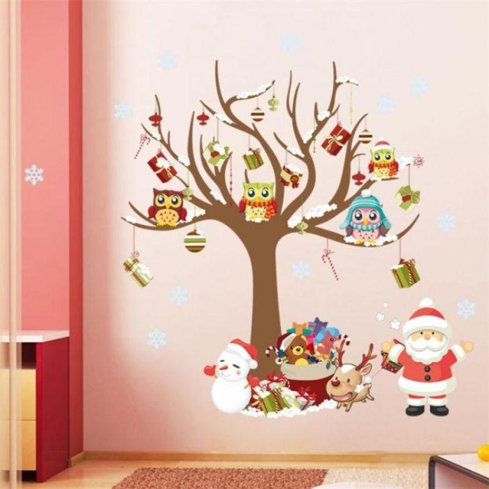 новогодние наклейки на стену для детской