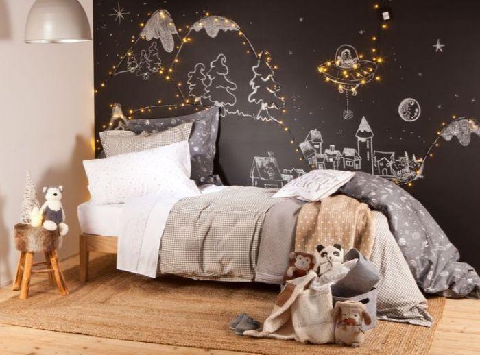 новогоднее оформление стен в детской