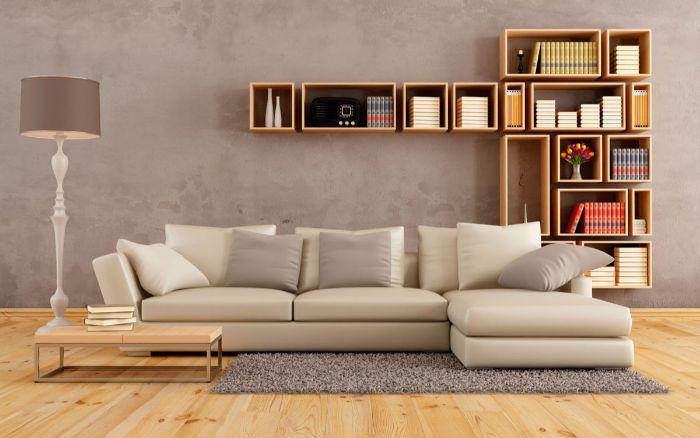 мягкая мебель в небольшой гостиной