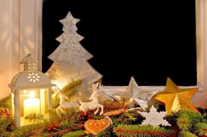 новогодний декор окон для детской
