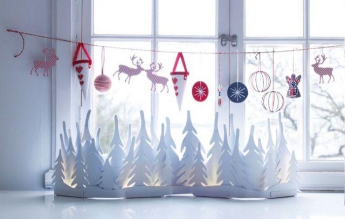 новогодние украшения окон в детской