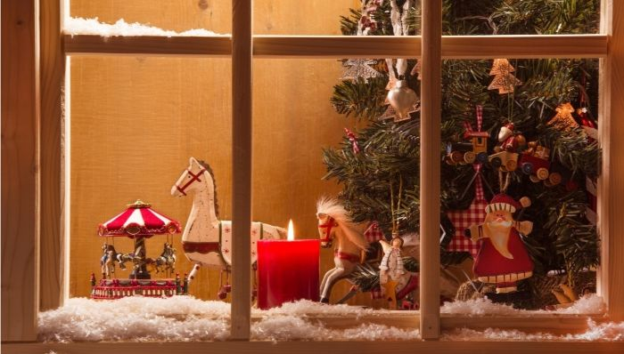новогодние украшения окон для детской