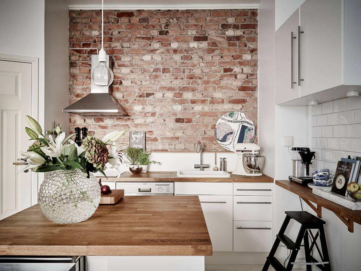 декор белой кухни в скандинавском стиле