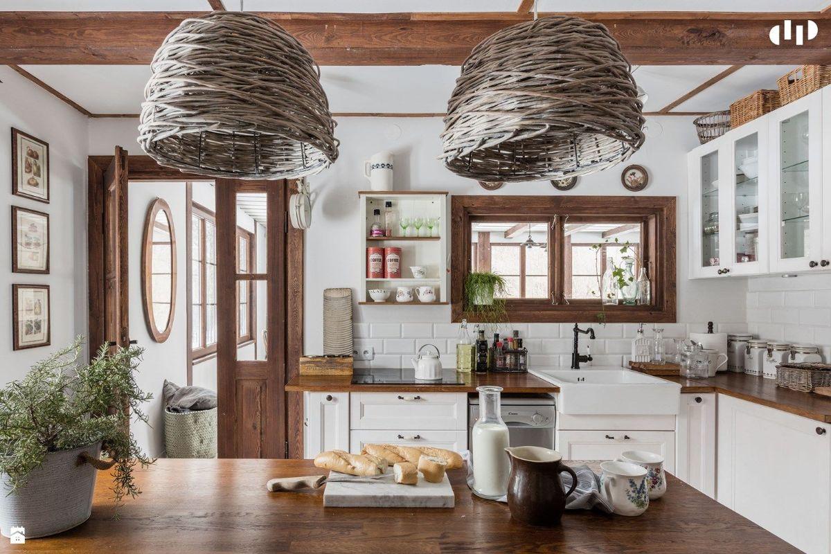 декор для кухни плетёные светильники
