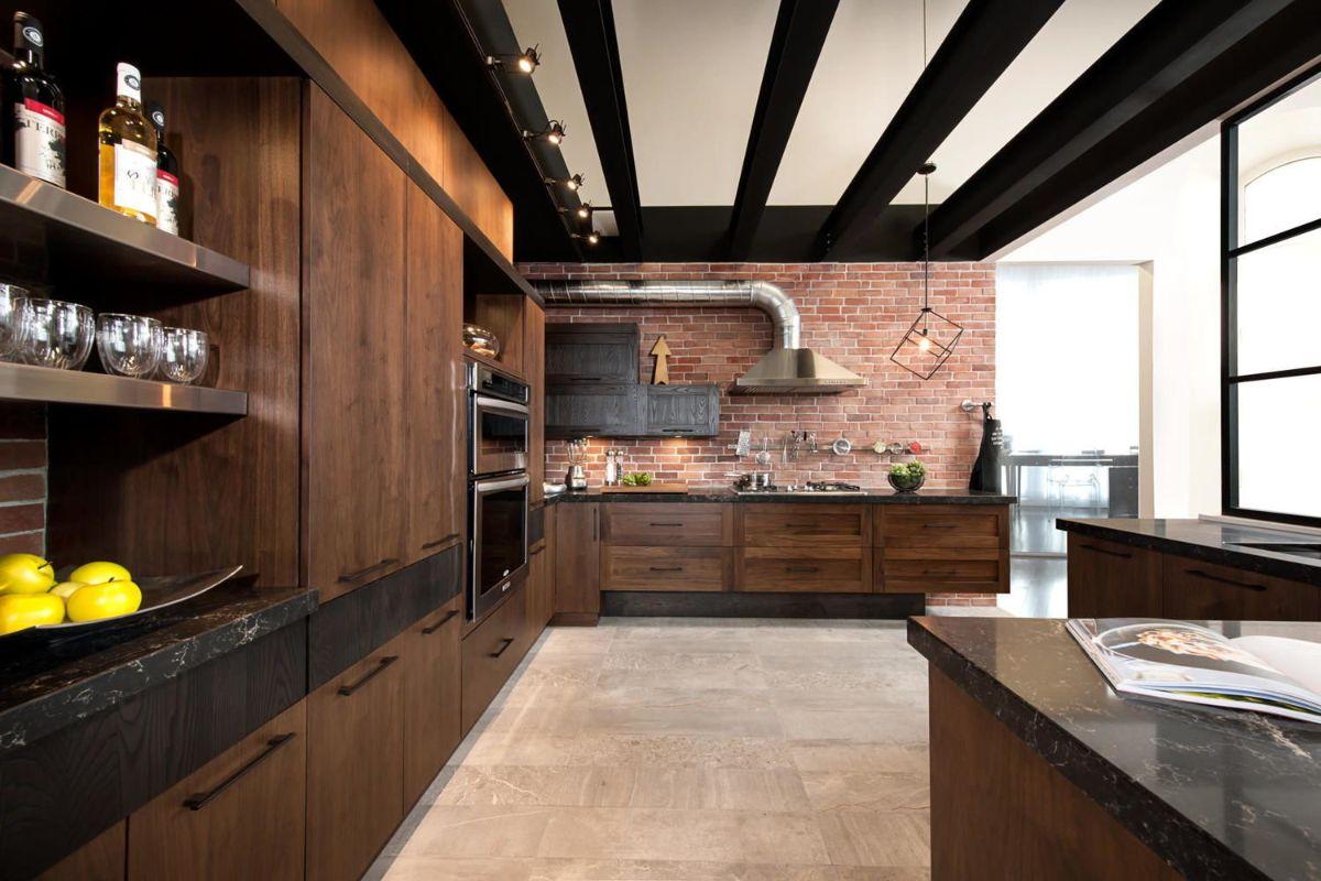 декор для кухни в коричневом цвете