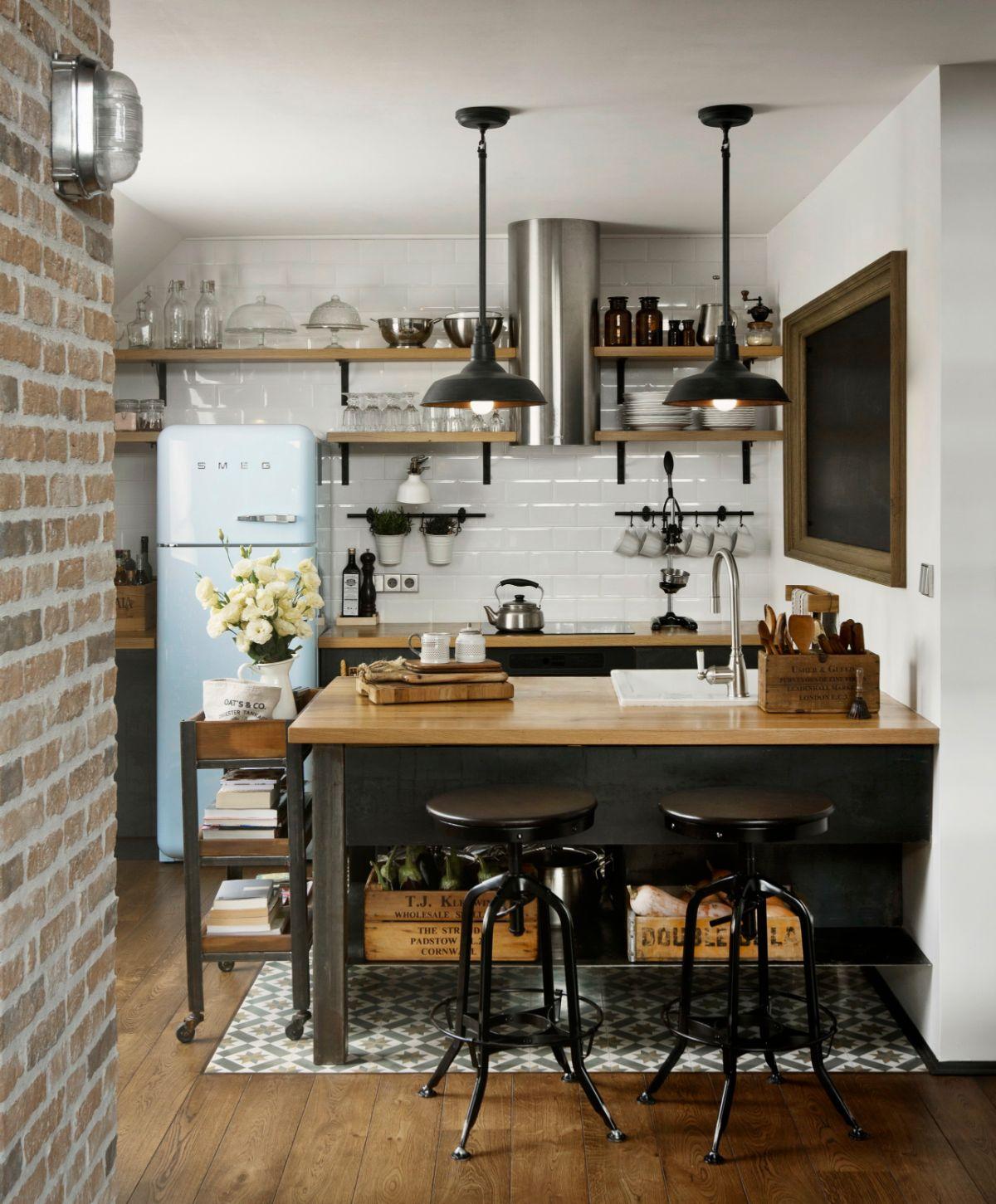 декор для кухни в стиле лофт