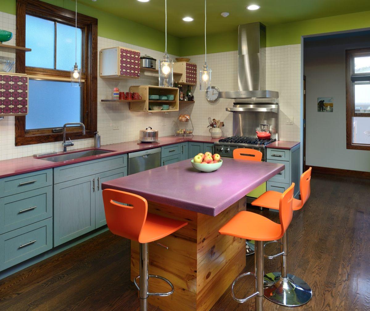 декор для кухни яркие цвета в дизайне