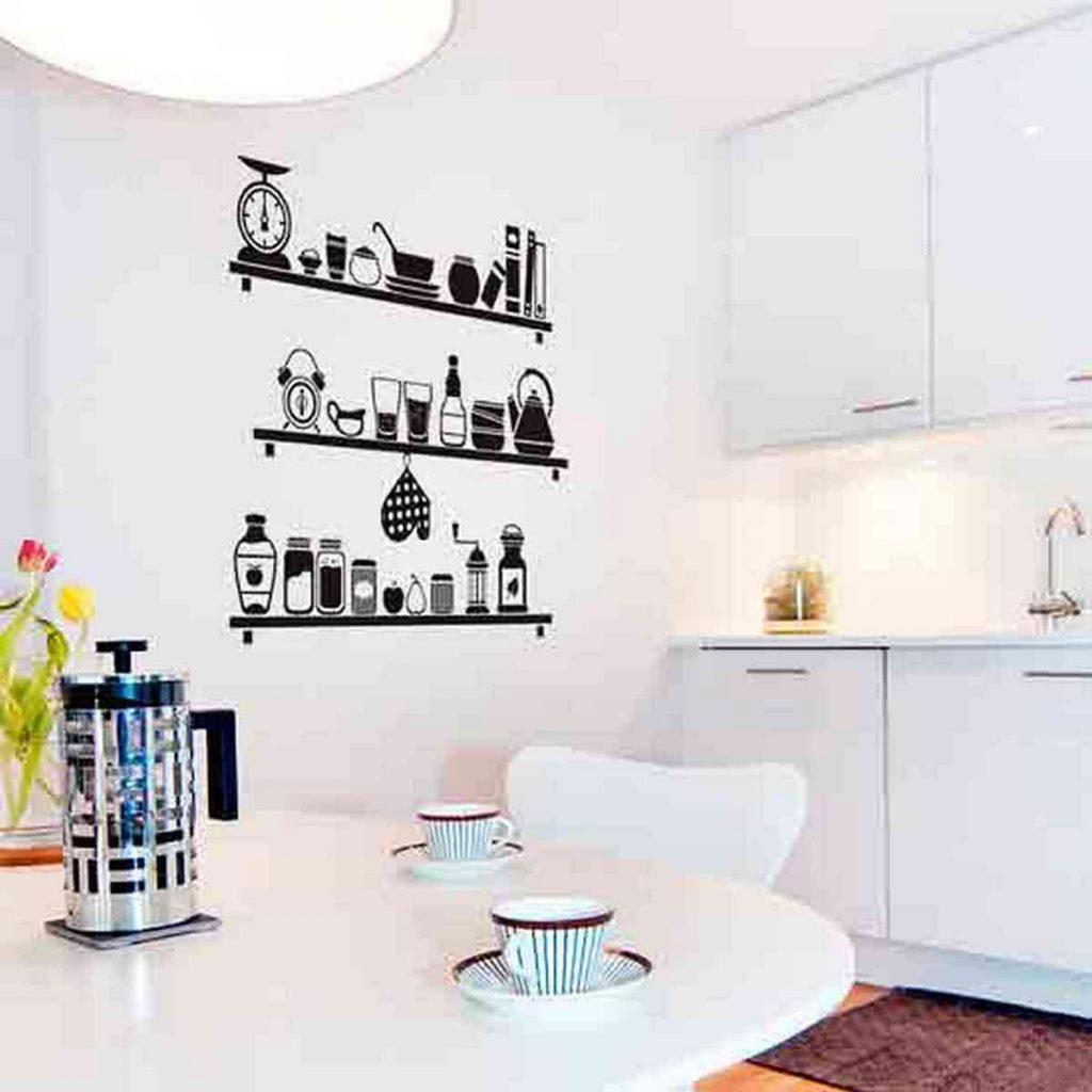 декор стен кухни на фото