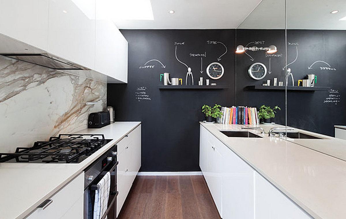 декор стен кухни простые способы
