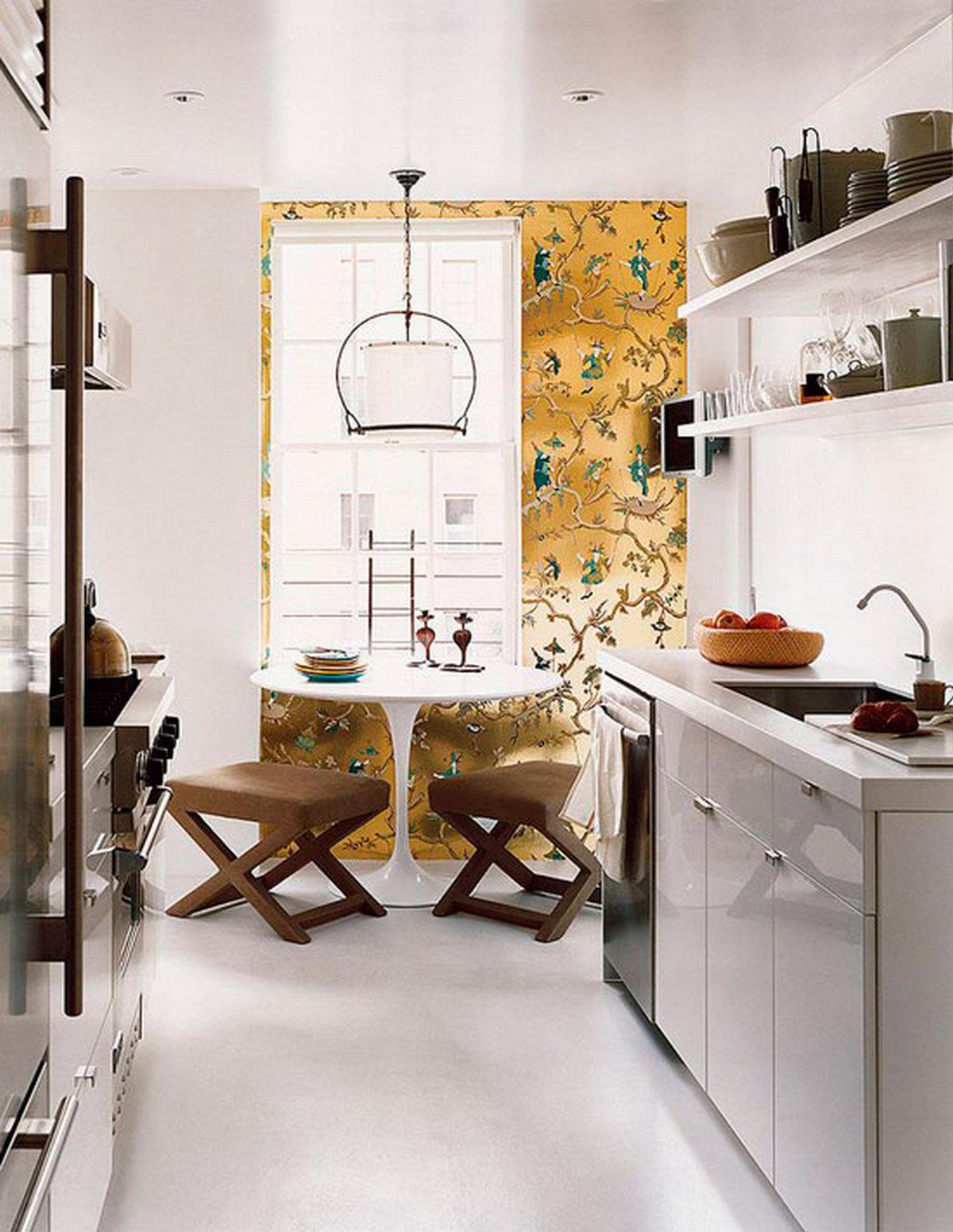 декор стен на маленькой кухне
