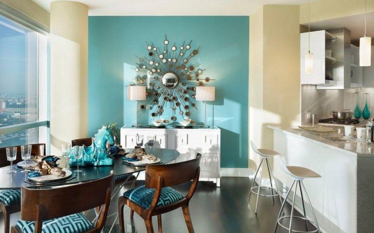 современный декор стен кухни фото