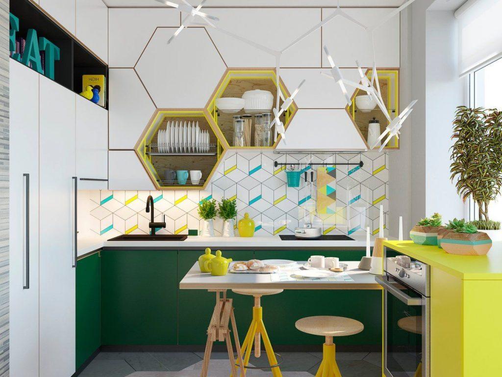 стильный декор фасадов кухни