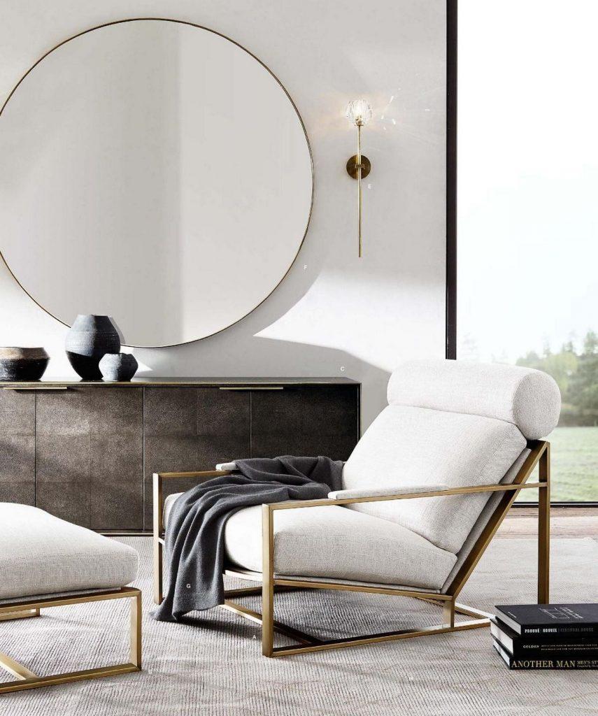 зеркала в гостиной фото