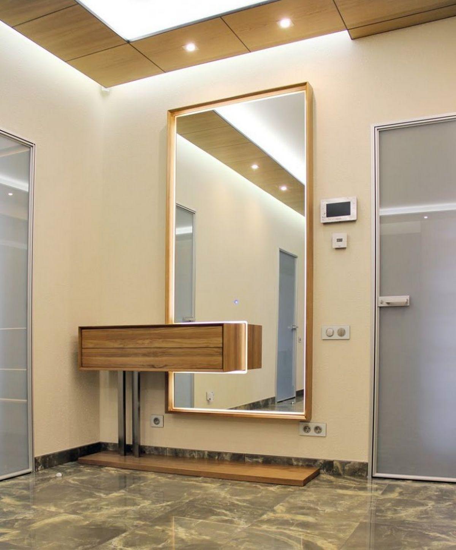 больште зеркала в интерьере прихожей фото