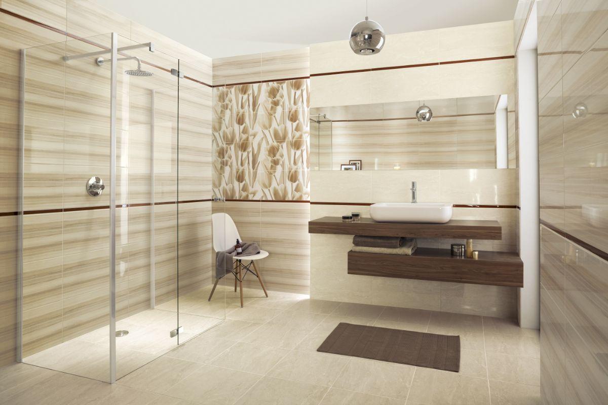 нюдовый интерьер в минималистической ванной