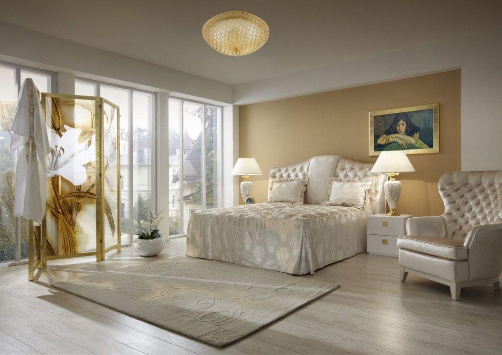 нюдовый интерьер спальня