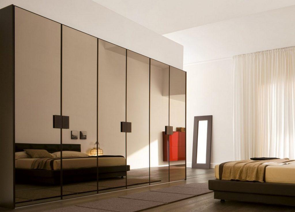 шкаф с зеркалами интерьер спальни