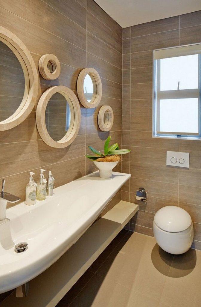 зеркало в интерьере ванной фото