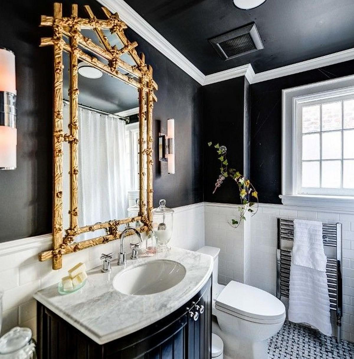 зеркало в интерьере ванной фото пример