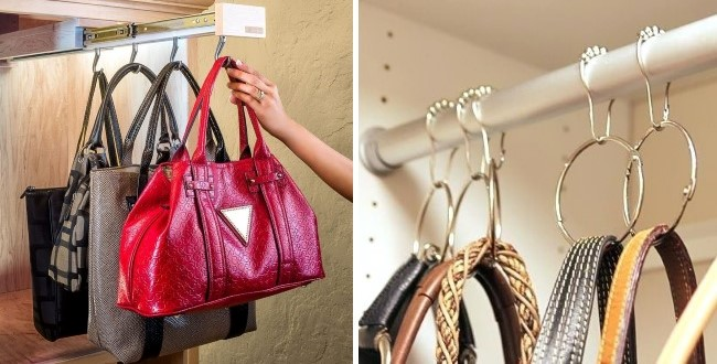 Вешалки для хранения сумок в прихожей своими руками