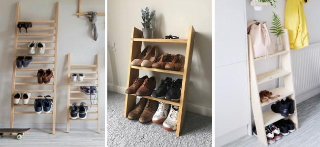 Простые идеи полок для хранения обуви в прихожей
